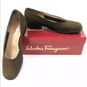 Salvatore Ferragamo Boutique Suede Loafers